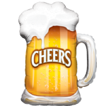 "35"" Cheers! Beer Mug Shape Balloon"